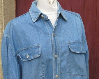 Vintage Denim Shirt L