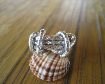 Handmade ring, Silver 925  ring, Silver cord ring, Sterling silver 925 ring,.comfotable ring