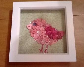 Button Art - Bird