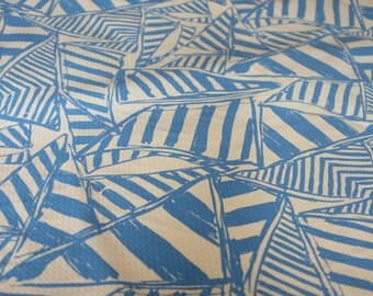 "18"" x 18"" or 1 YARD Lilly Pulitzer Jumbo Pique Fabric Bay Blue Yacht Sea"