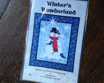 "WINTER'S WONDERLAND Snowman Wall Quilt/Sewing Pattern, 20 1/2 x 24 1/2"""