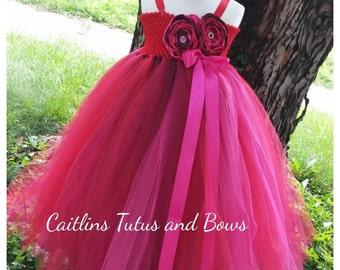 Red flower girl tutu, red flower girl dress, red tutu dress, flower girl tutu dress, red flower girl dress, red flower tutu dress, red tutu