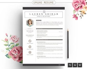 Diy resume template Etsy