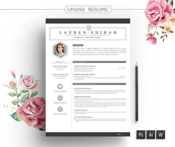 resume template  u0026 free cover letter for word ai psd diy