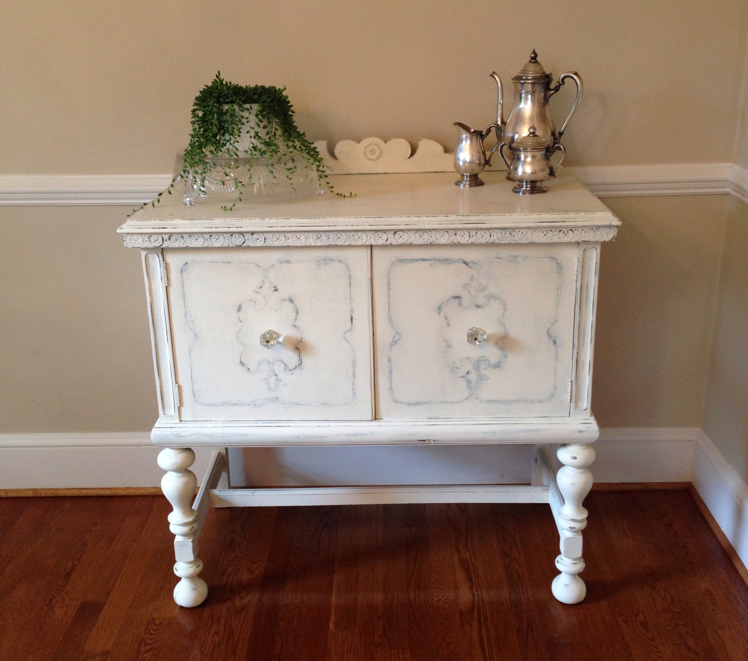 Annie sloan chalk painted small antique buffet sideboard in for Painted buffet sideboard
