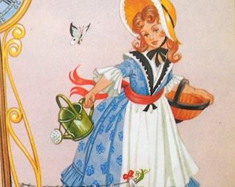 Items Similar To Original Vintage 1920s Nursery Rhyme Page