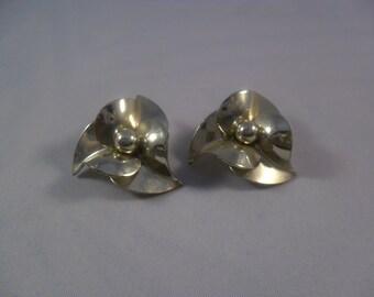 Silver Rosette Earrings