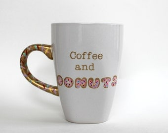 Coffee and Donuts Ceramic 12oz Coffee Mug