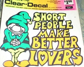 short people window sticker