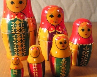 Nesting Dolls from Russia, USSR era