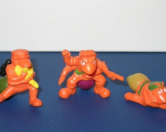 Vintage Lot of 3 1980s Hasbro Army Ants Mini Figures