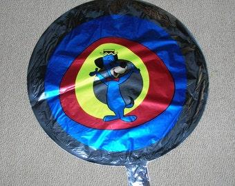 Vintage 1980s Hanna Barbera Huckleberry Hound Mylar Balloon