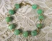 Spiritual Gemstone Bracelet-Chrysoprase