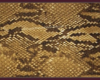 Snakeskin Fabric - By the Fat Quarter or Yard