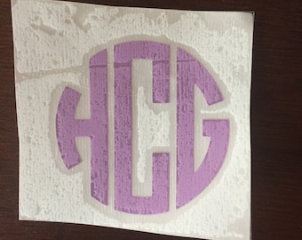2 Inch Vinyl Monogram Decal
