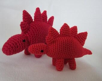 Little & Littlest Stegosaurus Amigurumi