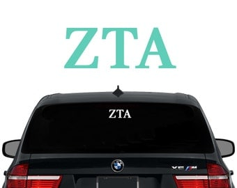 ZTA Zeta Tau Alpha Greek Letters Sorority Decal Laptop Sticker Car Decal