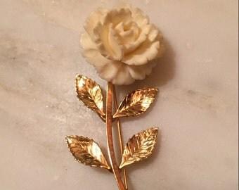 Atamore gold filled flower brooch