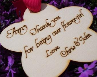 Flower Girl Thank you, Flower Girl gift, Wedding party gift