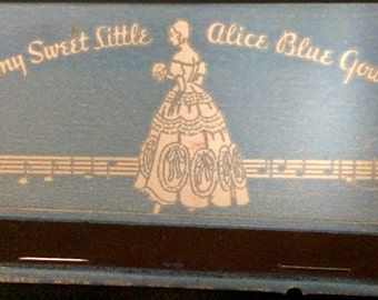 1950's Vintage 40 Strike UnStruck Matchbook Littmann's Apparel Store NYC My Sweet Little Alice Blue Gown