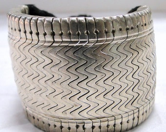 ethnic tribal old silver bracelet cuff gothic tribal jewelry-11543