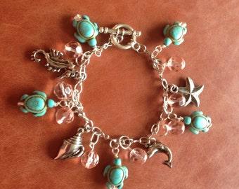 I Love the Beach Charm Bracelet