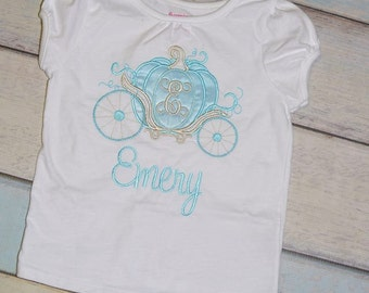 Blue and Silver Carriage Applique Shirt