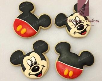 Mickey Mouse cookies (1 dozen)