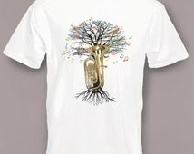 Tuba T-shirt Musical Tree tubaist or tubist in all sizes
