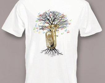 Tuba T-shirt Musical Tree tubaist or tubist in all sizes
