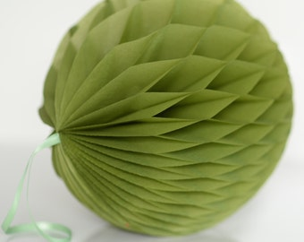 Green tea Tissue paper honeycombs -  hanging wedding party decorations