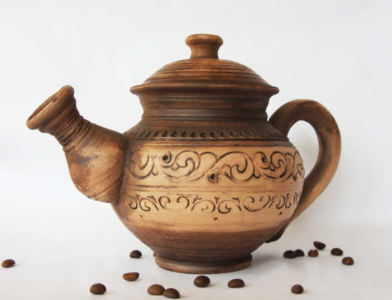 Teapot Wedding Gift Unique Gift Stoneware By Smilingalligator