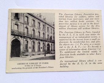 Map postal American Library in Paris