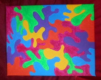 Psychadellic Jigsaw original painting 8'x10'