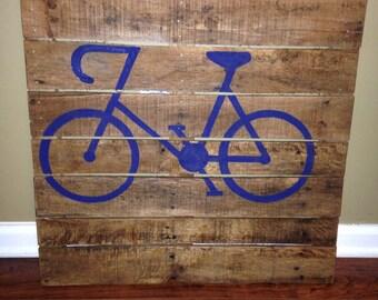 24 x 24 pallet wood bike sign