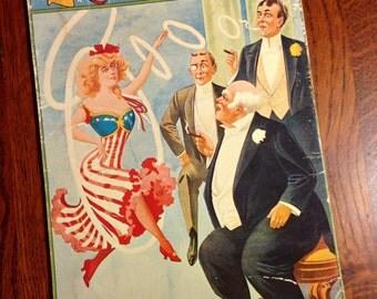 Extra Large Vintage Postcard, Uncle Sam's Belles