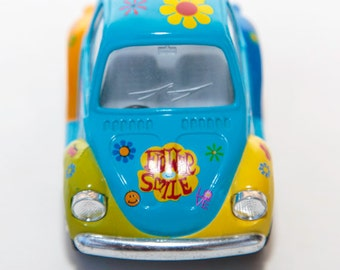 VW miniature with flowers