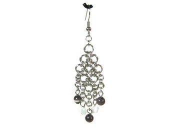 Cat's Eye Chandelier Earrings