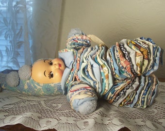 Jo Jo The Clown Handmade Cloth Doll