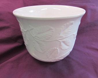 White Ceramic Flower Pot