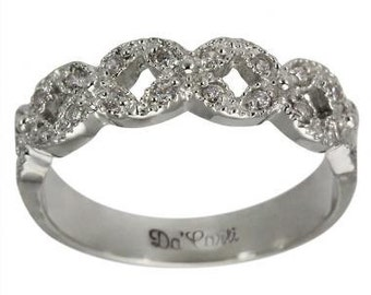 diamond ring anniversary ring 14k white gold with 025ct diamonds - Cheap Wedding Rings For Women