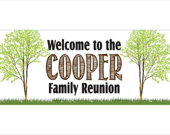 Personalized Family Reunion Banner