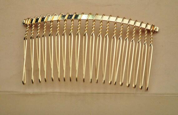 50pcs large metal bridal wedding birdcage veil hair comb clip for Metal hair combs for crafts