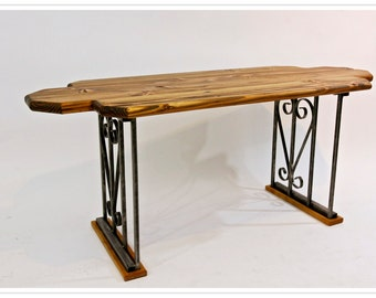 wrought iron table legs etsy. Black Bedroom Furniture Sets. Home Design Ideas