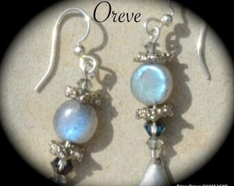 Earrings LABRADORITE & SWAROWSKI Crystal