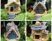 Set of 4 Miniature Stone House and 4pcs Step Fairy Garden Accessory or Dollhouse Garden Decoration Terrarium accessories