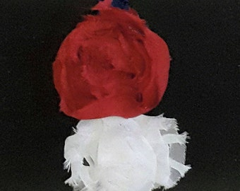 Red White and Blue Flower Headband