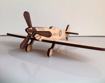 Supermarine spitfire. stocking filler,fathers day, birthday, aeroplane, gift, personalised, toy, fun, unusual, cool, wedding favor, wooden