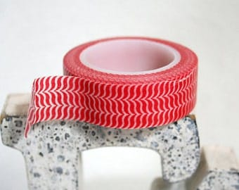 Red Wave Washi Tape