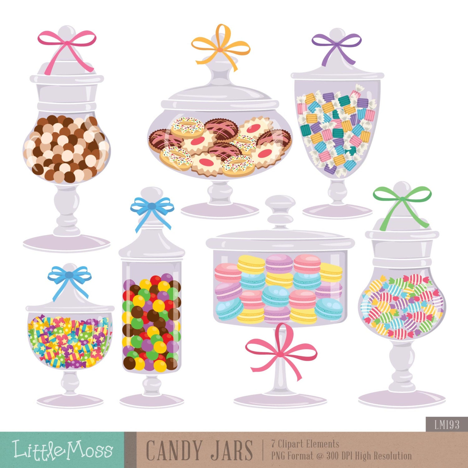 Candy jar clipart | Etsy